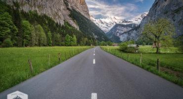 Road Through Lauterbrunnen Valley