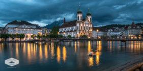 Jesuit Church at Night
