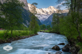 The Lutschine River through the Lauterbrunnen Valley