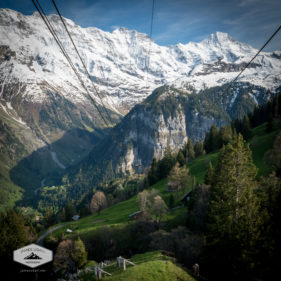 View from Schilthorn Cable Car