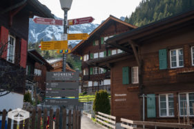 Direction Sign in Murren