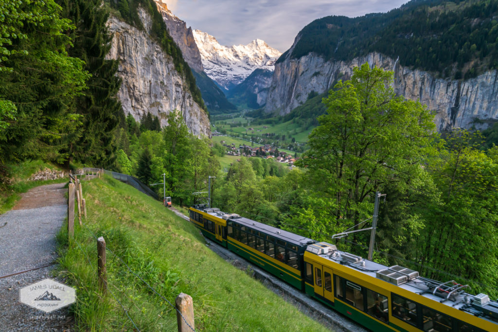 Wengernalpbahn Train to Lauterbrunnen