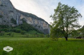 Waterfalls in Lauterbrunnen Valley