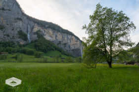 Waterfalls in Lauterbrunnen Valley