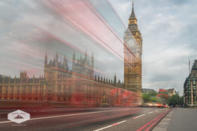 Bus Passing Big Ben