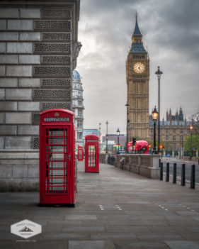 London Phone Booths and Big Ben