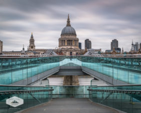 Morning at Millenium Bridge