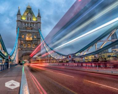 Bus Passing on Tower Bridge