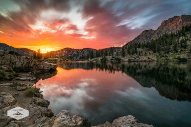 Sunrise at Cecret Lake