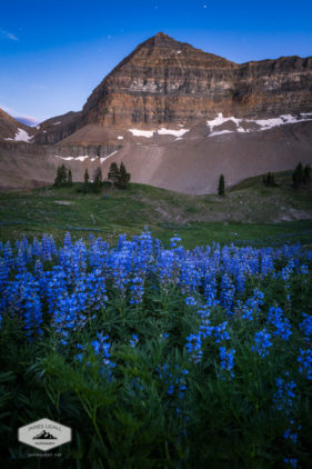 Nightfalls at Timpanogos Basin