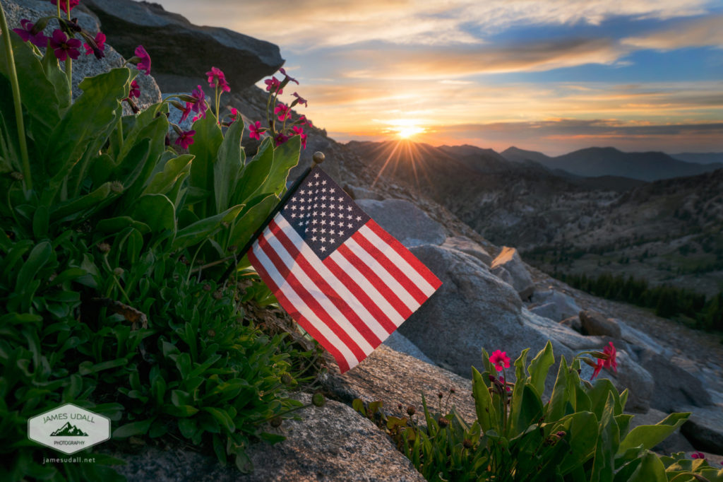 Fourth of July Sunset in the Wasatch Mountains