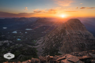 Sunset in the Uinta Mountains
