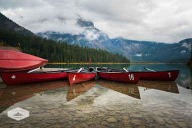 Canoes at Emerald Lake