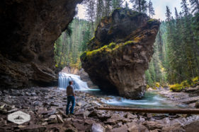 Standing in Johnston Canyon