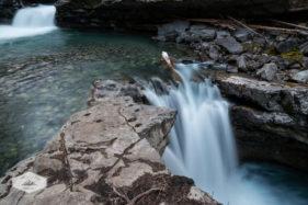 Waterfall in Johnston Canyon