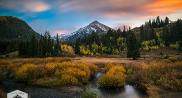 Autumn Sunset in Big Cottonwood Canyon