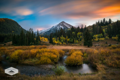 Autumn Sunset in Big Cottonwood Canyon
