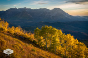 Golden Evening view of Timpanogos