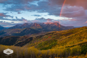Autumn Rainbow over Mount Timpanogos
