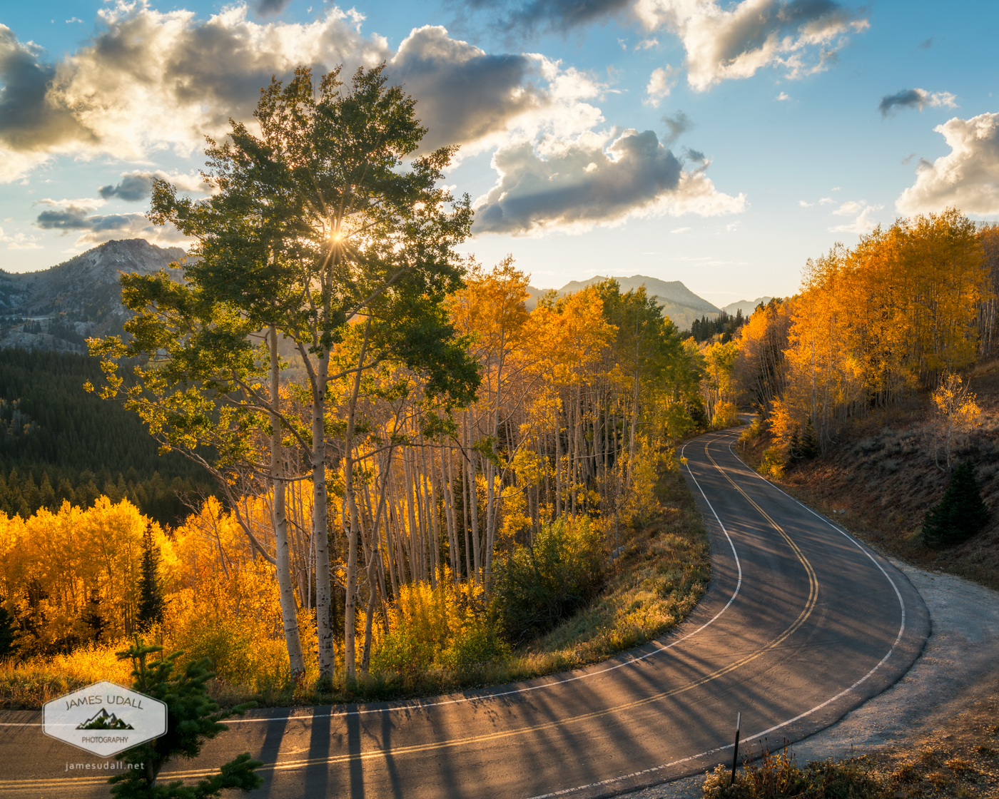 Winding Road Through Big Cottonwood Canyon