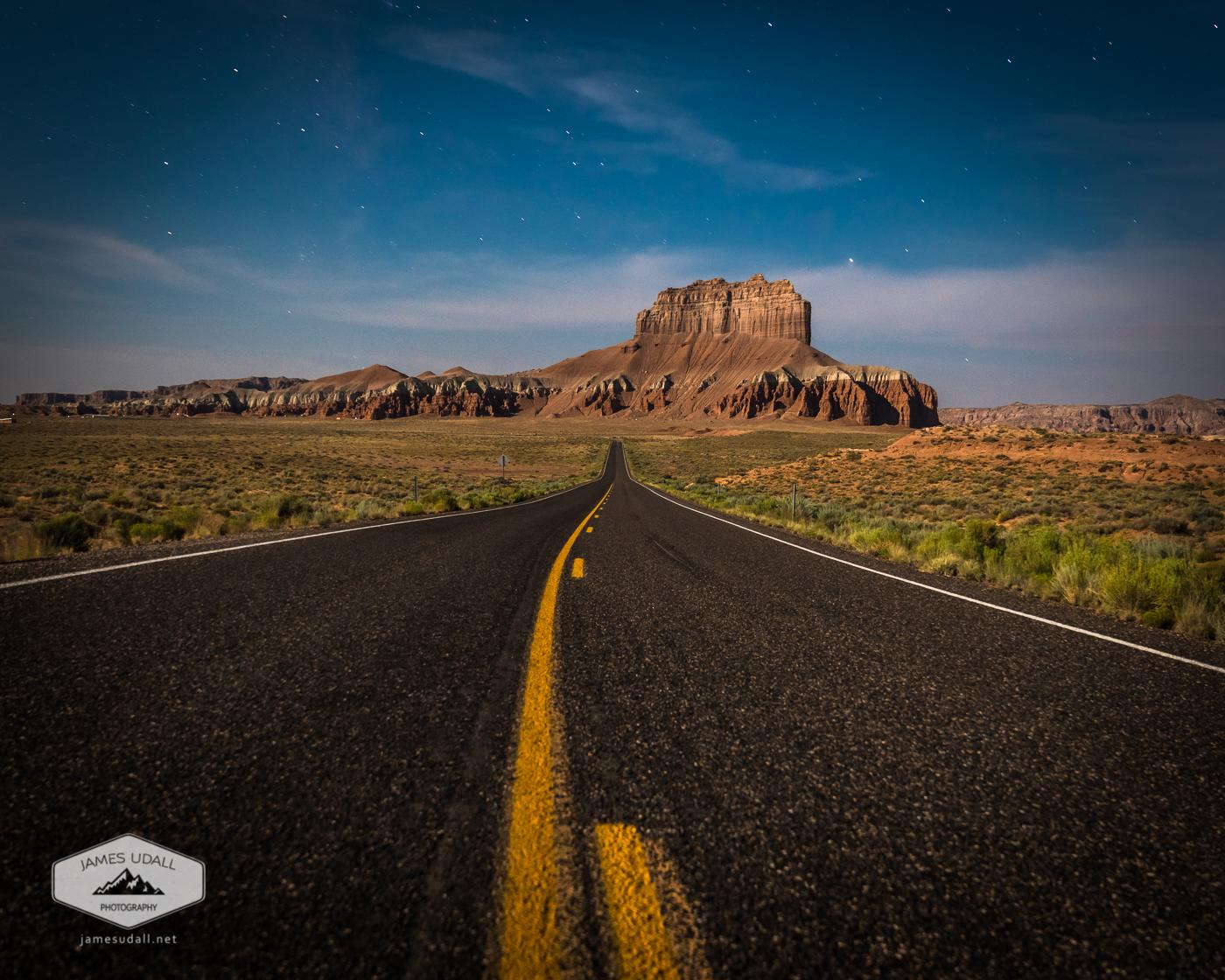 Desert Highway at Night