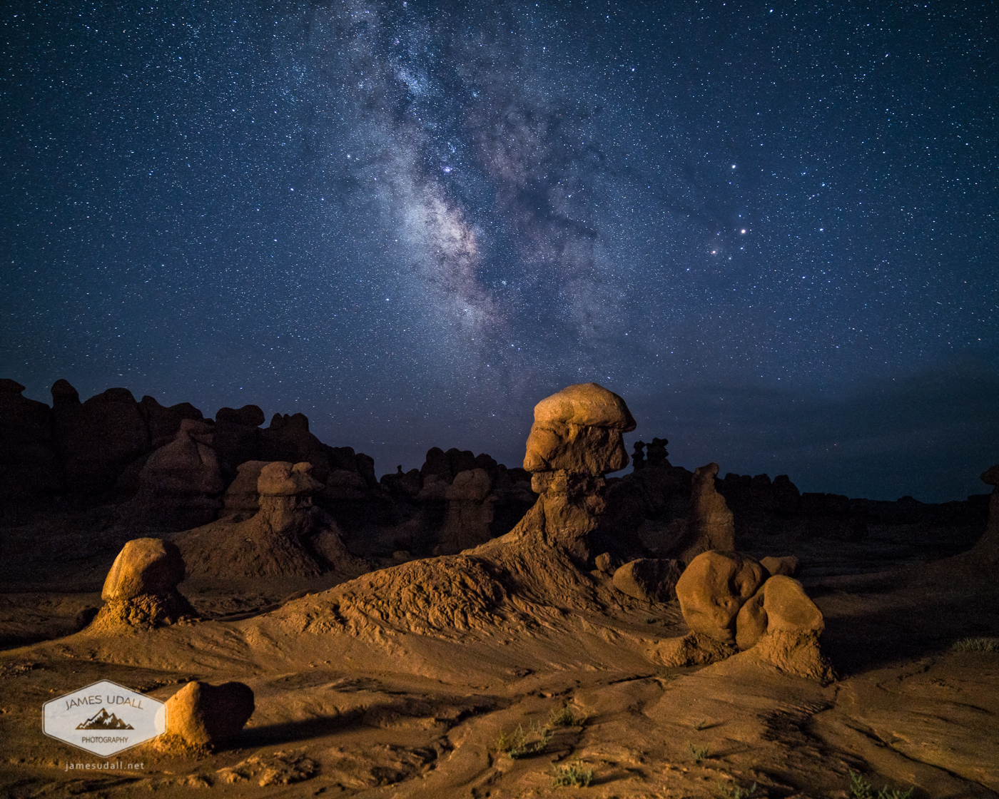 Milky Way above Goblin Valley
