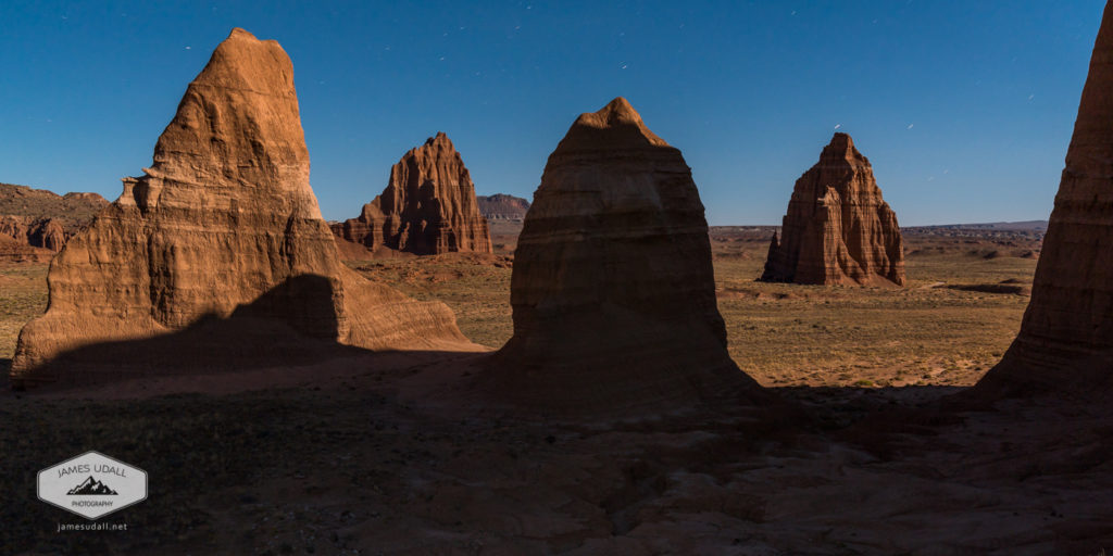 Moonlit Night in Cathedral Valley