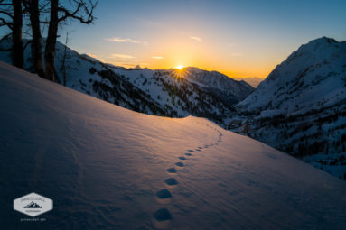 Winter Sunset over Little Cottonwood Canyon