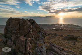 Sun Setting over the Great Salt Lake