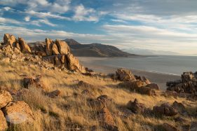Antelope Island during Golden Hour