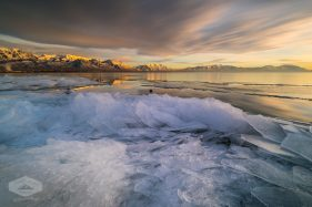 Ice Along Utah Lake