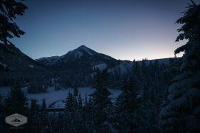 Kessler Peak at Night