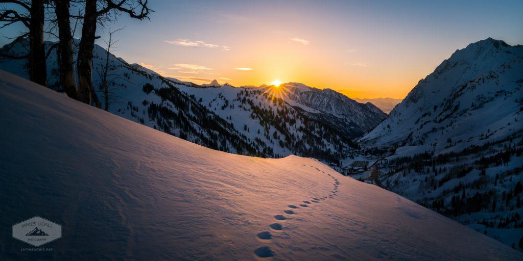 Winter Sunset over Little Cottonwood Canyon