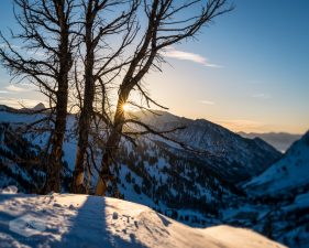 Winter Evening Above Little Cottonwood Canyon