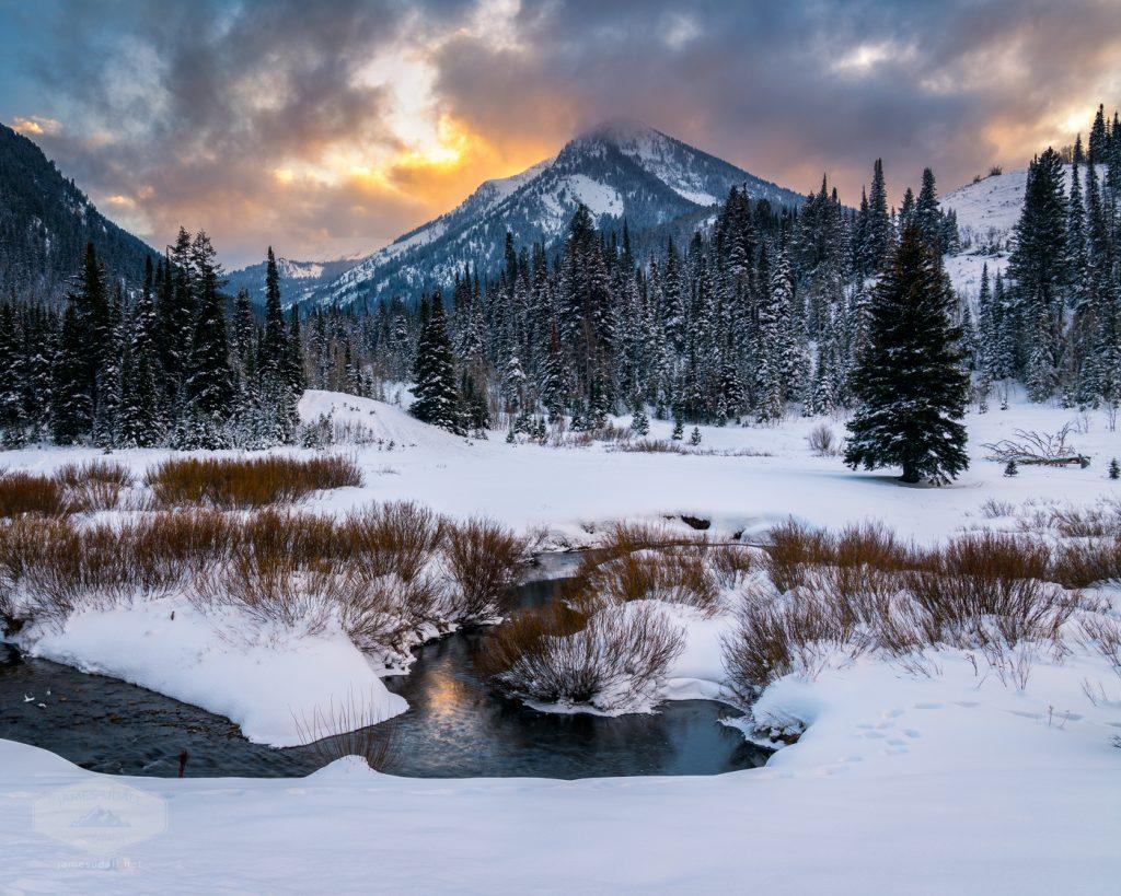 Wintery Wasatch Sunset