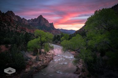 Springtime Sunset at Zion National Park