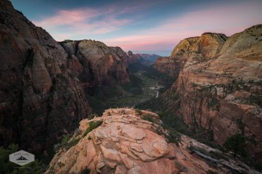 Sunrise from Angels Landing