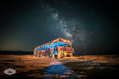 Abandoned Bus under the Milky Way