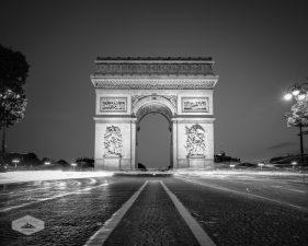 Traffic Around Arc De Triomphe