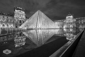 Pyramid at the Louvre at Night