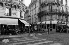 Paris Street and Cafe