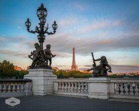 Paris Sunrise on Pont Alexandre III