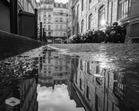 Street Reflection in Montmartre