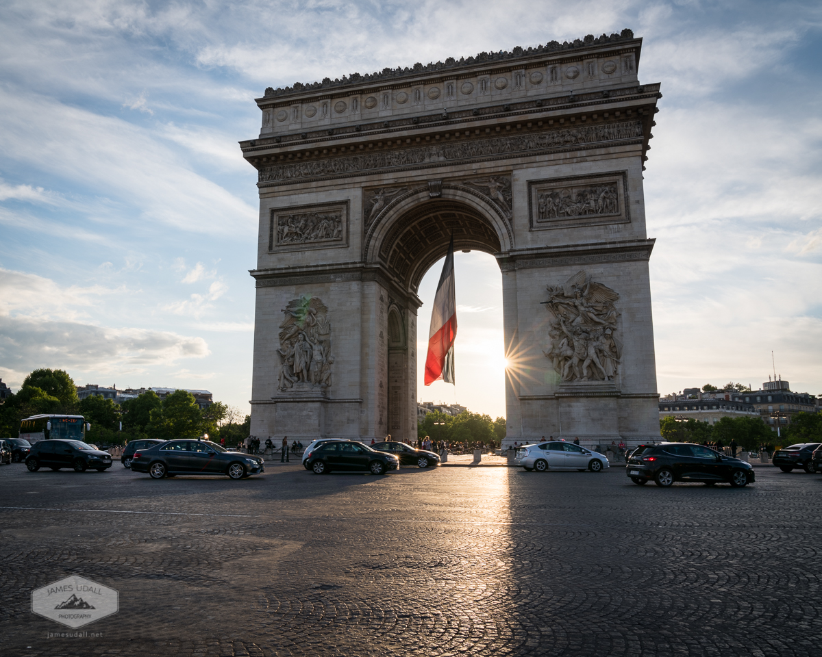 Cars Around Arc de Triomphe