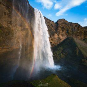 Rainbow and Seljalandsfoss