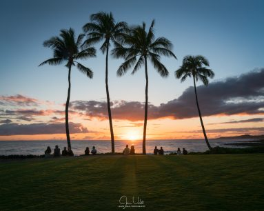 Watching Sunset in Kauai