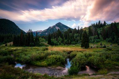 Sunrise over Kesler Peak